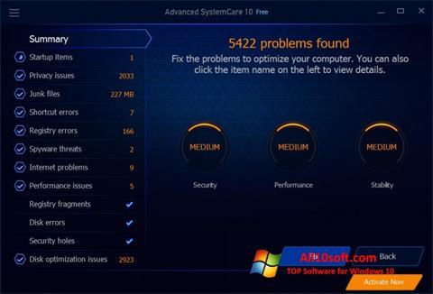 Képernyőkép Advanced SystemCare Free Windows 10