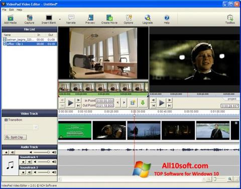 Képernyőkép VideoPad Video Editor Windows 10