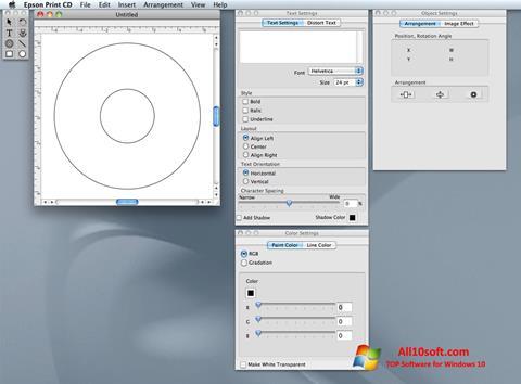 Képernyőkép EPSON Print CD Windows 10
