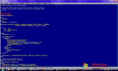Képernyőkép Free Pascal Windows 10