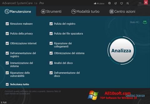 Képernyőkép Advanced SystemCare Pro Windows 10