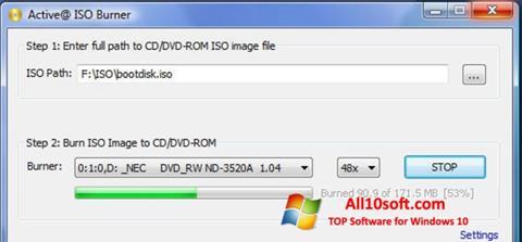 Képernyőkép ISO Burner Windows 10