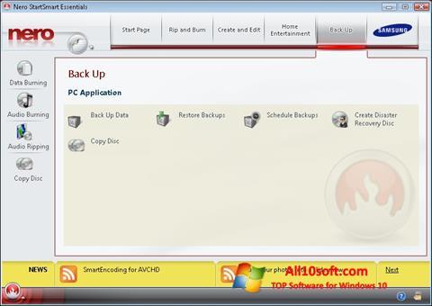 Képernyőkép Nero Windows 10