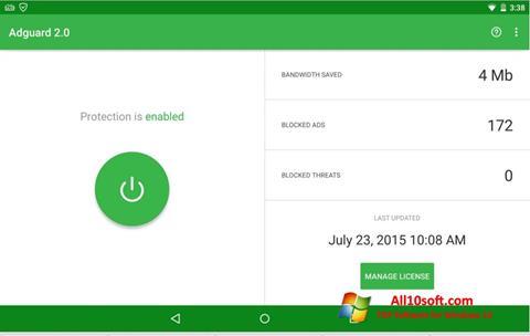 Képernyőkép Adguard Windows 10