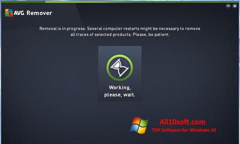 Képernyőkép AVG Remover Windows 10