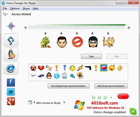 Képernyőkép Skype Voice Changer Windows 10