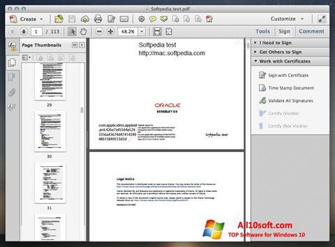 Képernyőkép Adobe Acrobat Windows 10