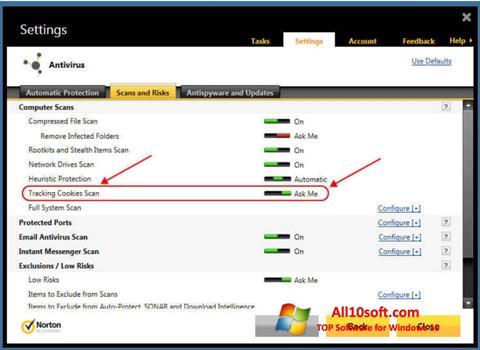 Képernyőkép Norton Windows 10
