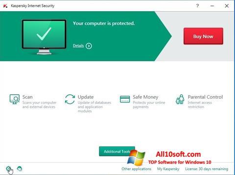 Képernyőkép Kaspersky Internet Security Windows 10