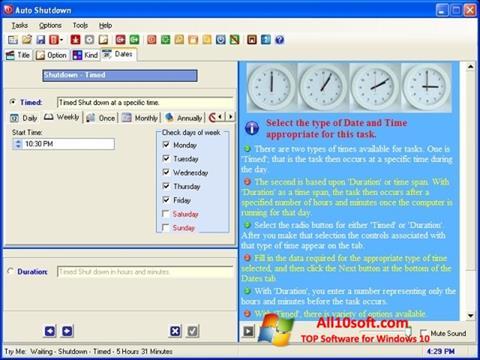 Képernyőkép Auto ShutDown Windows 10