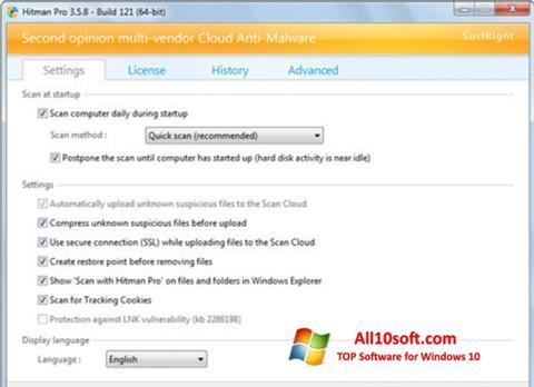 Képernyőkép HitmanPro Windows 10