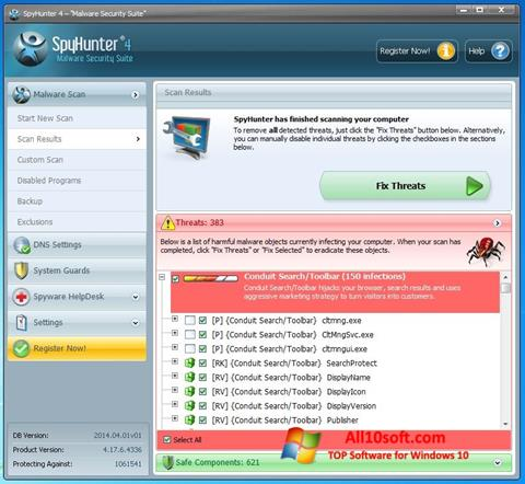 Képernyőkép SpyHunter Windows 10
