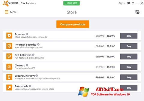 Képernyőkép Avast Free Antivirus Windows 10