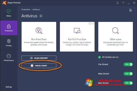 Képernyőkép Avast Windows 10