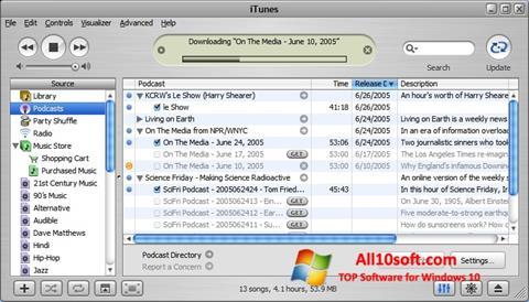 Képernyőkép iTunes Windows 10