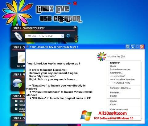 Képernyőkép LinuxLive USB Creator Windows 10