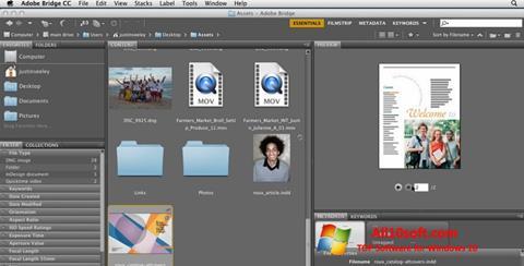 Képernyőkép Adobe Bridge Windows 10
