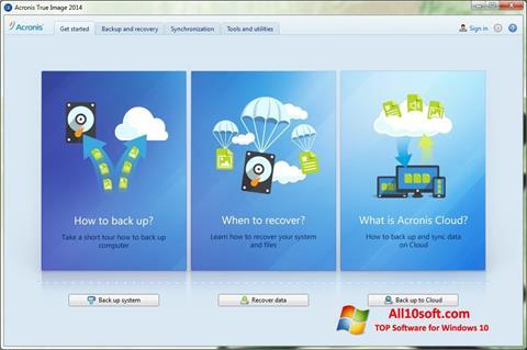Képernyőkép Acronis True Image Windows 10