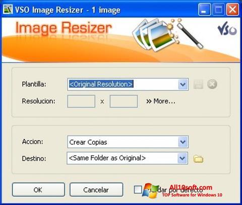 Képernyőkép VSO Image Resizer Windows 10