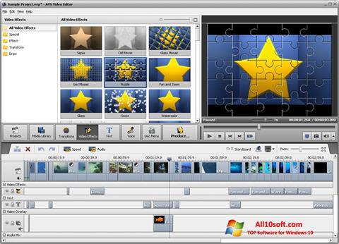 Képernyőkép AVS Video Editor Windows 10