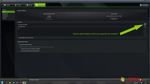 Képernyőkép NVIDIA GeForce Experience Windows 10