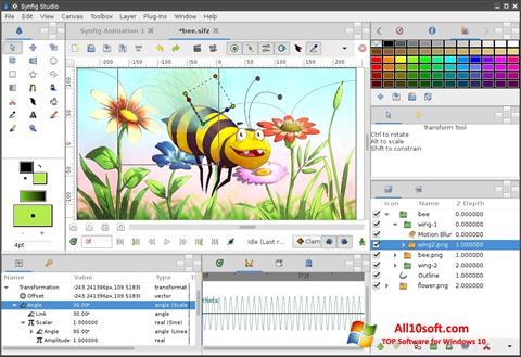 Képernyőkép Synfig Studio Windows 10