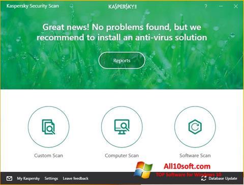 Képernyőkép Kaspersky Security Scan Windows 10