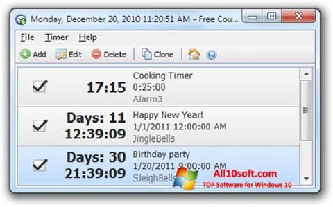Képernyőkép Free Countdown Timer Windows 10