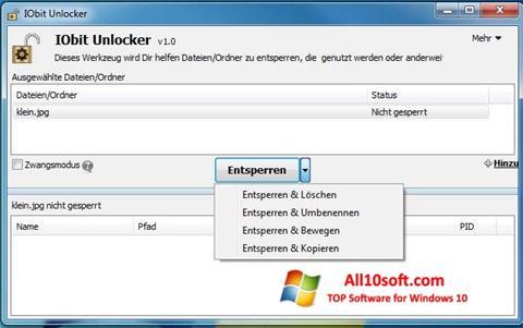 Képernyőkép IObit Unlocker Windows 10