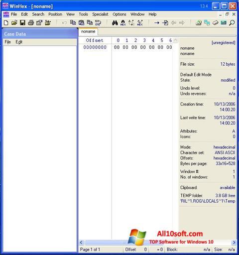 Képernyőkép WinHex Windows 10