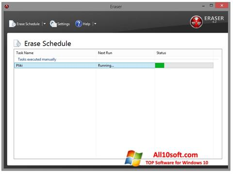 Képernyőkép Eraser Windows 10