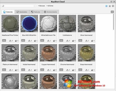 Képernyőkép KeyShot Windows 10