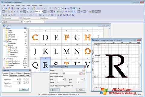 Képernyőkép Font Creator Windows 10