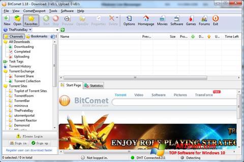 Képernyőkép BitComet Windows 10