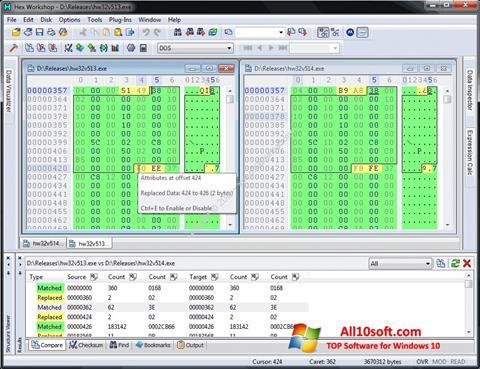Képernyőkép Hex Workshop Windows 10