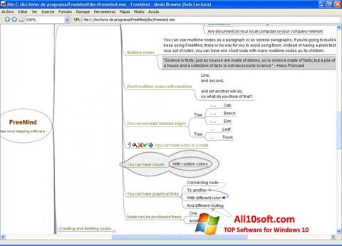 Képernyőkép FreeMind Windows 10