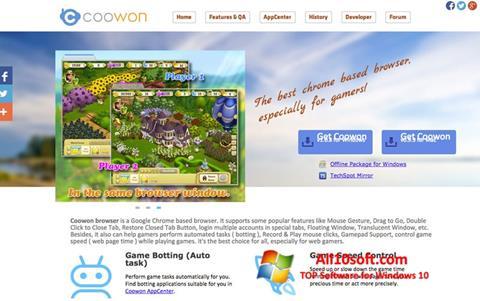 Képernyőkép Coowon Browser Windows 10