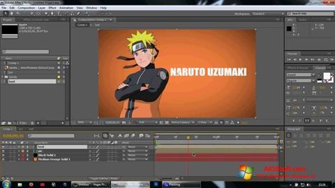 Képernyőkép Adobe After Effects Windows 10
