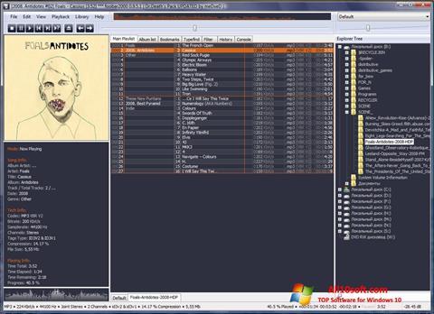 Képernyőkép Foobar2000 Windows 10