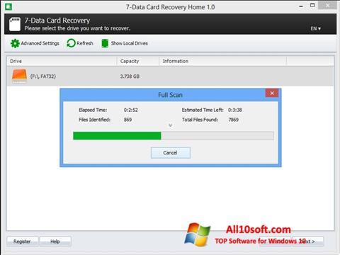 Képernyőkép CardRecovery Windows 10
