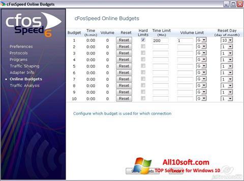 Képernyőkép cFosSpeed Windows 10