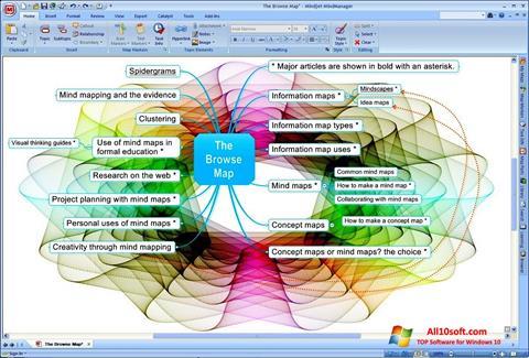 Képernyőkép MindManager Windows 10
