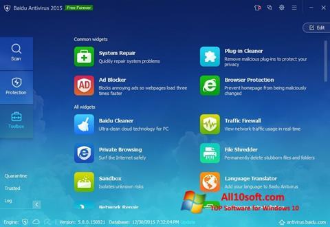 Képernyőkép Baidu Antivirus Windows 10