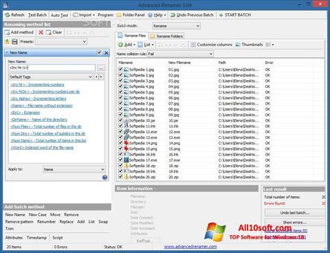 Képernyőkép ReNamer Windows 10