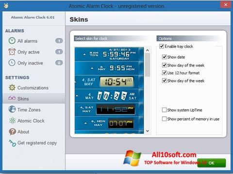 Képernyőkép Atomic Alarm Clock Windows 10