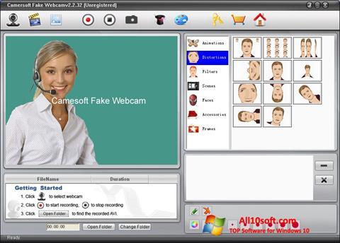 Képernyőkép Fake Webcam Windows 10