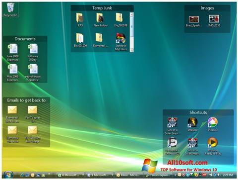 Képernyőkép Fences Windows 10