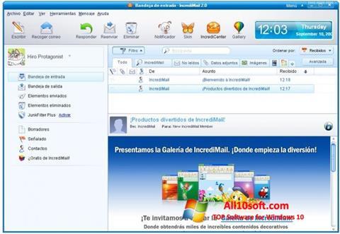Képernyőkép IncrediMail Windows 10