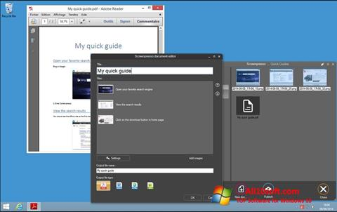 Képernyőkép Screenpresso Windows 10