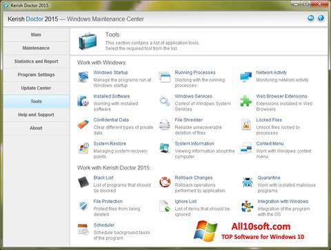 Képernyőkép Kerish Doctor Windows 10